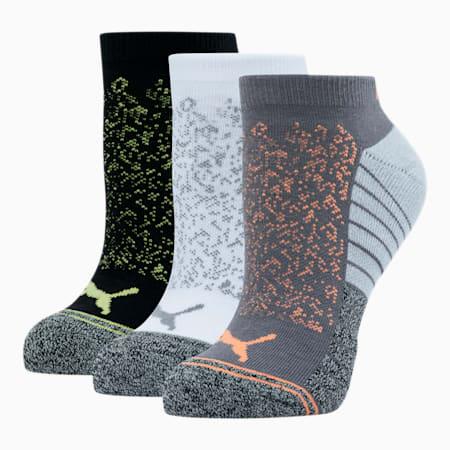 Women's Low Cut Socks [3 Pack], GREY / MULTI, small